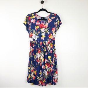ASOS Maternity Dress Floral Blue Pink Size 8